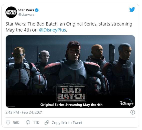 Estreno de The Bad Batch de Star Wars en Disney+
